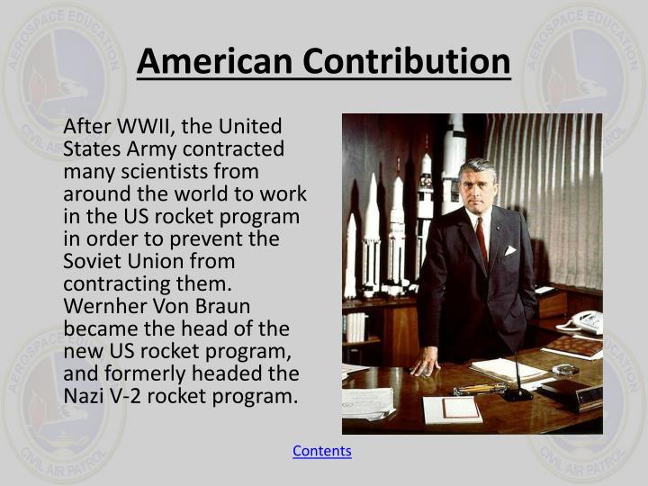 American Contribution