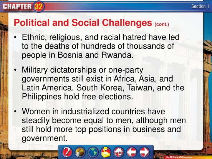 Political and Social Challenges