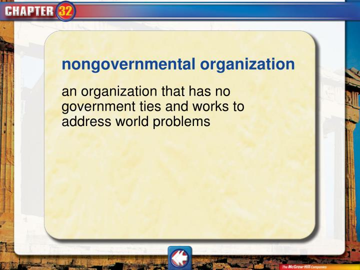 nongovernmental organization
