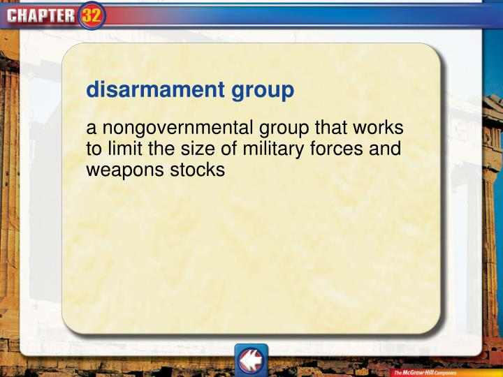 disarmament group