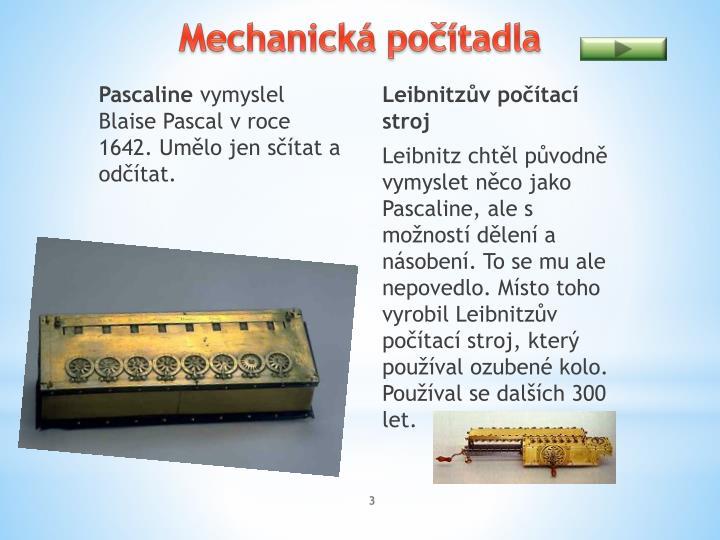 Mechanická počítadla