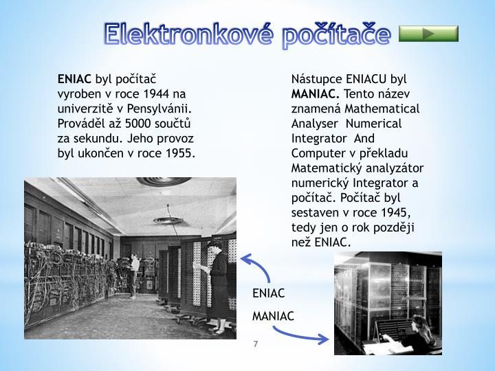 Elektronkové počítače