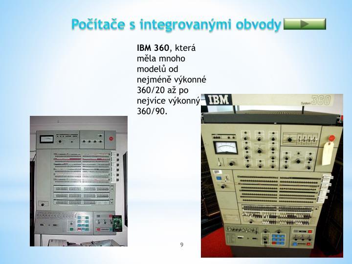 Počítače s integrovanými obvody