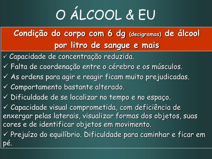 O ÁLCOOL & EU