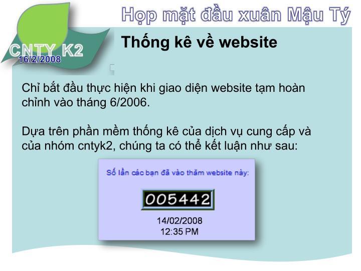 Thống kê về website