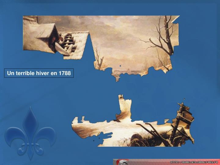 Un terrible hiver en 1788