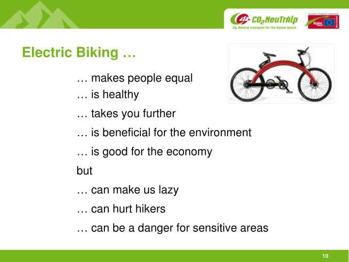 Electric Biking …