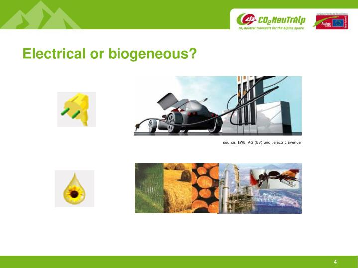 Electrical or biogeneous?