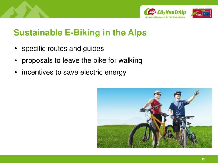 Sustainable E-Biking in the Alps