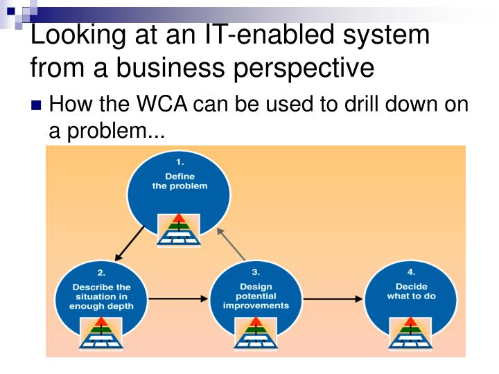 Looking at an IT-enabled system from a business perspective