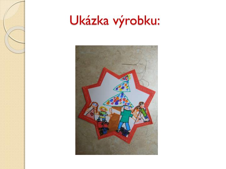 Ukázka výrobku: