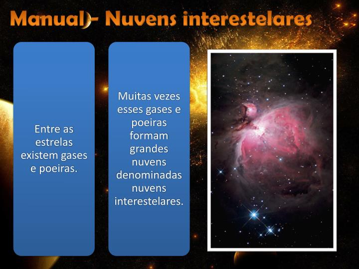 Manual - Nuvens interestelares