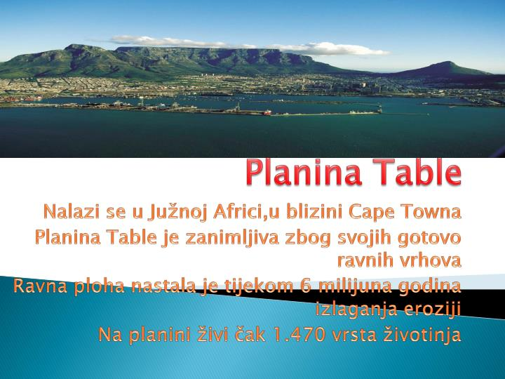 Planina Table