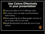 use colors effectively in your presentation