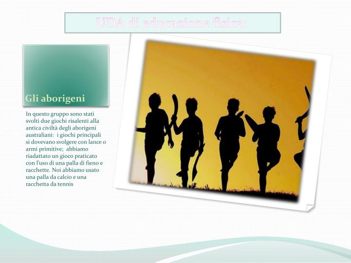 UDA di educazione fisica: