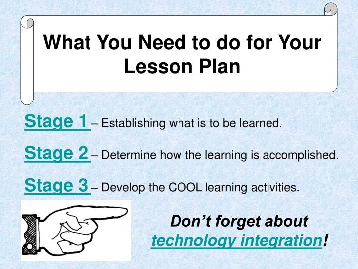 What You Need to do for Your Lesson Plan