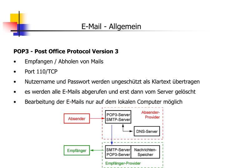 E-Mail - Allgemein