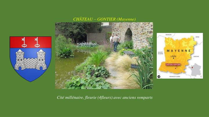 CHÂTEAU – GONTIER (Mayenne)