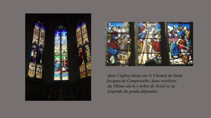 dans l'église située sur le Chemin de Saint