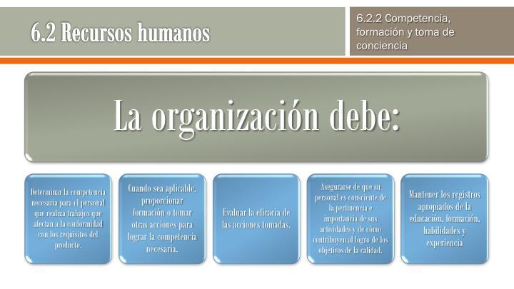6.2 Recursos humanos