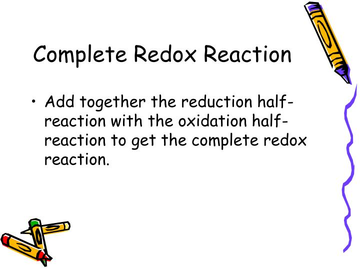 Complete Redox Reaction
