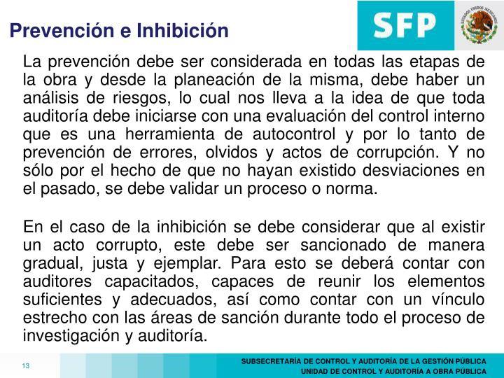 Prevención e Inhibición