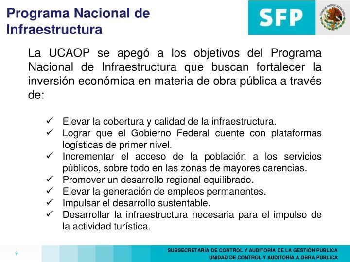 Programa Nacional de Infraestructura