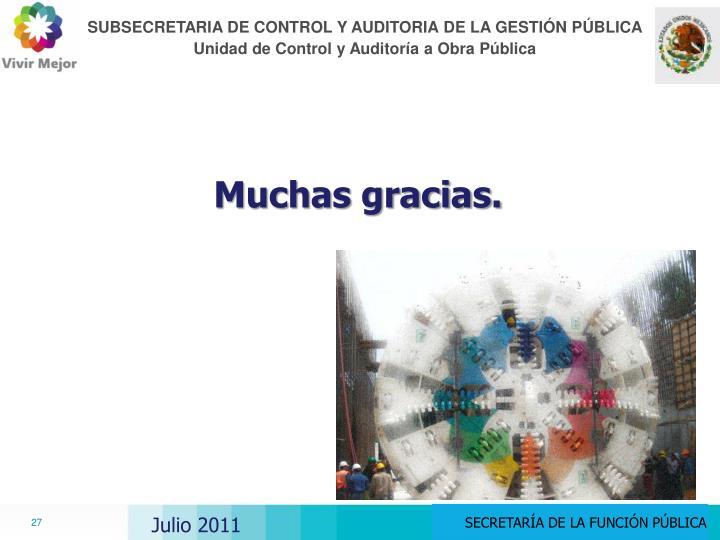 SUBSECRETARIA DE CONTROL Y AUDITORIA DE LA GESTIÓN PÚBLICA