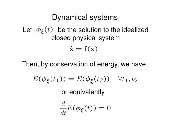 Let              be the solution to the idealized