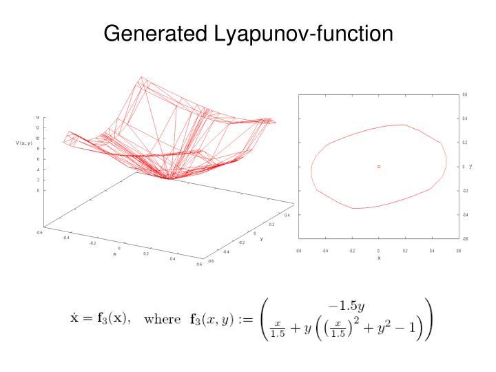 Generated Lyapunov-function