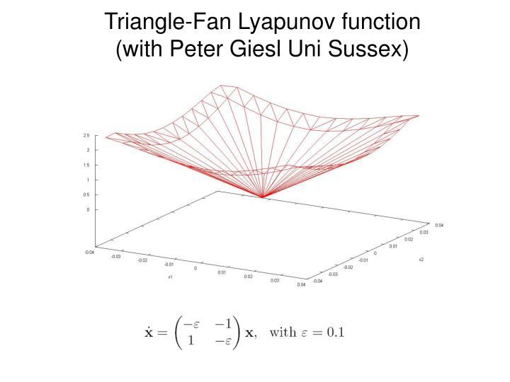 Triangle-Fan Lyapunov function
