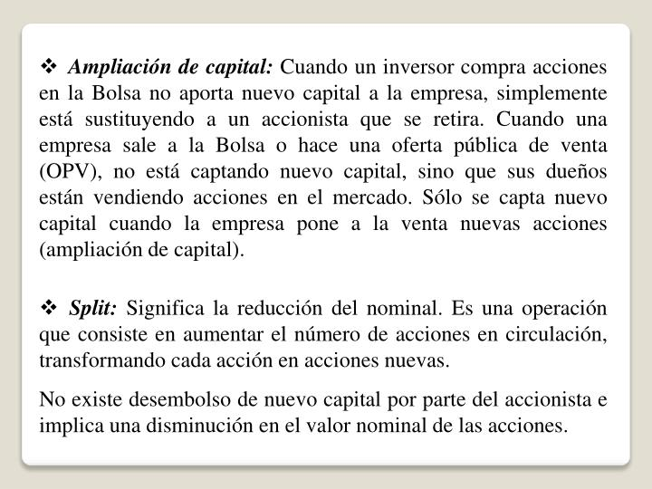 Ampliación de capital