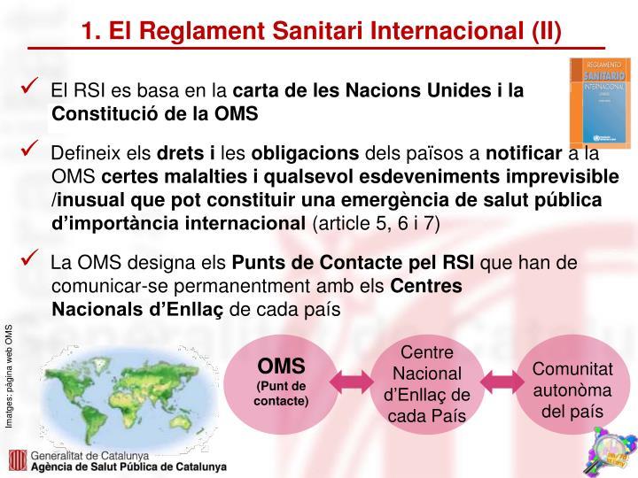 1. El Reglament Sanitari Internacional (II)