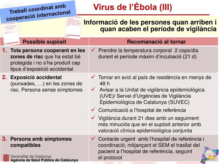 Virus de l'Ébola (III)