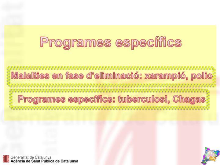 Programes específics