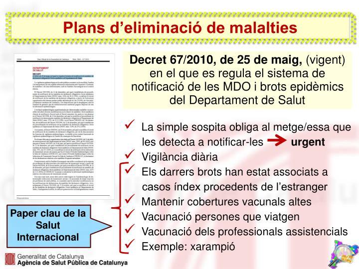 Plans d'eliminació de malalties