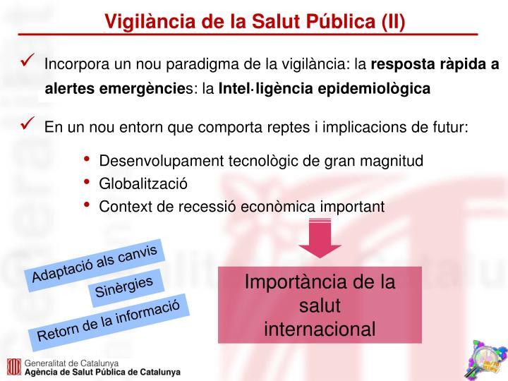 Vigilància de la Salut Pública (II)