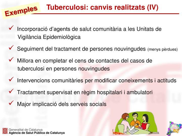 Tuberculosi: canvis realitzats (IV)