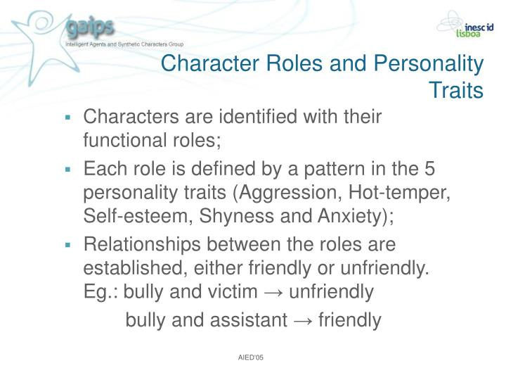 Character Roles and Personality Traits