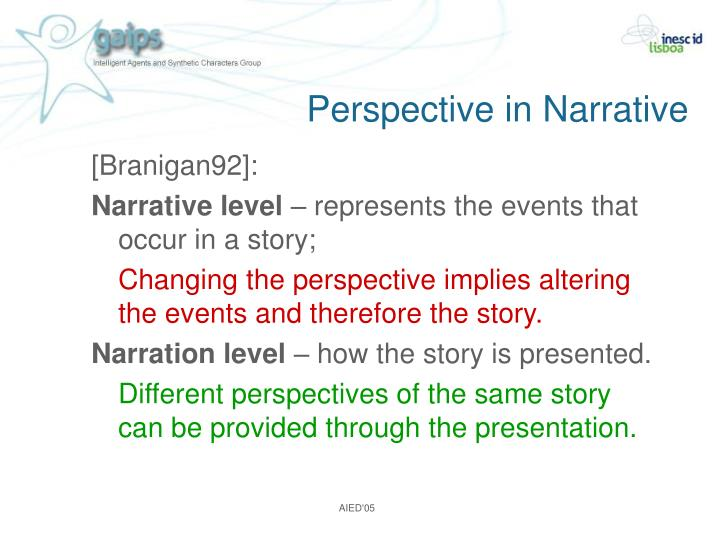 Perspective in Narrative