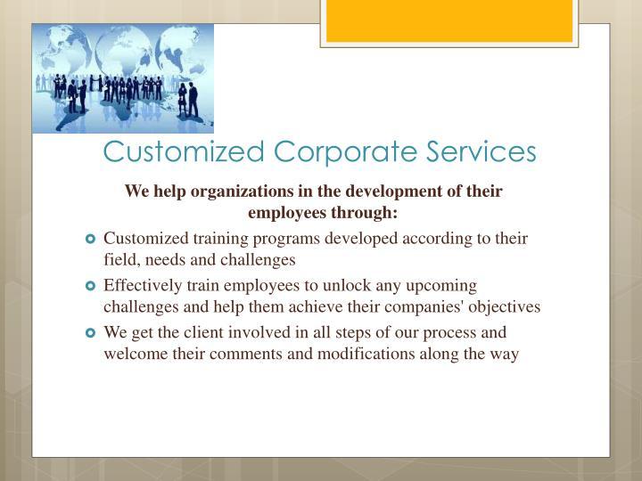 Customized Corporate
