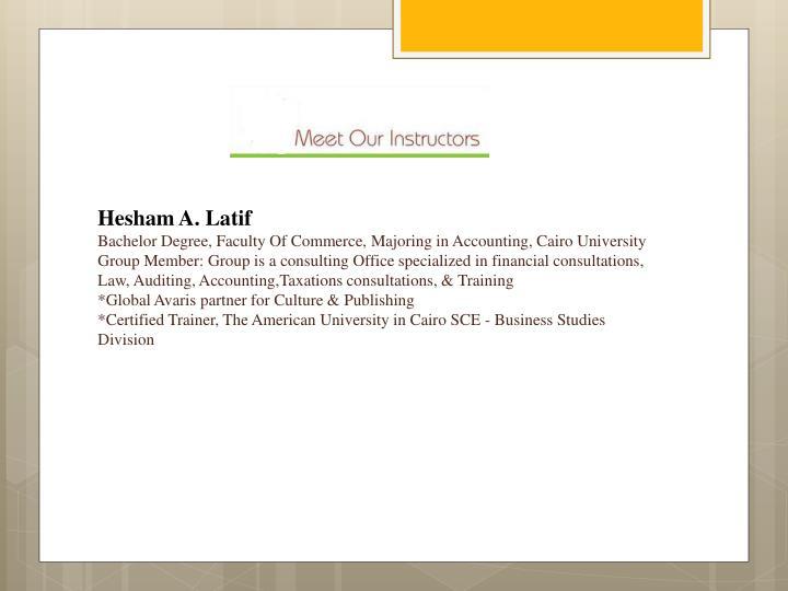 Hesham A. Latif