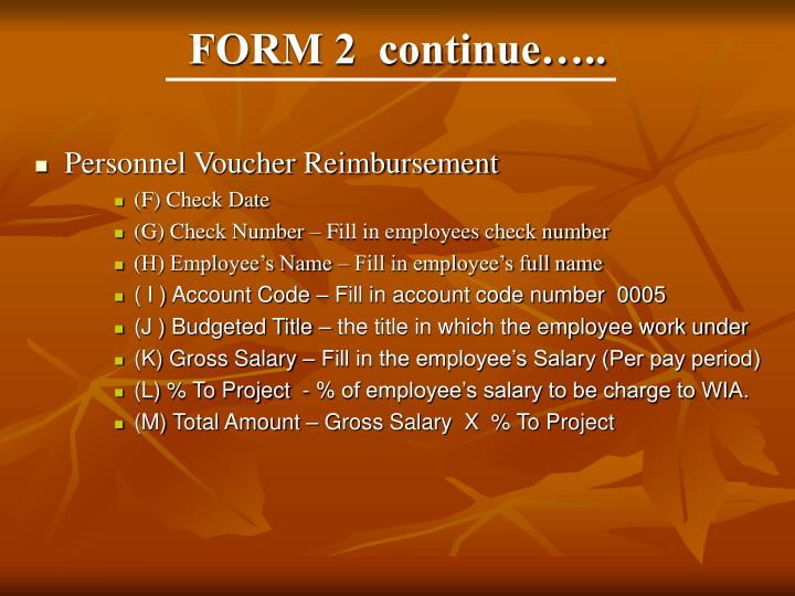 FORM 2  continue…..