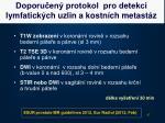 doporu en protokol pro detekci lymfatick ch uzlin a kostn ch metast z