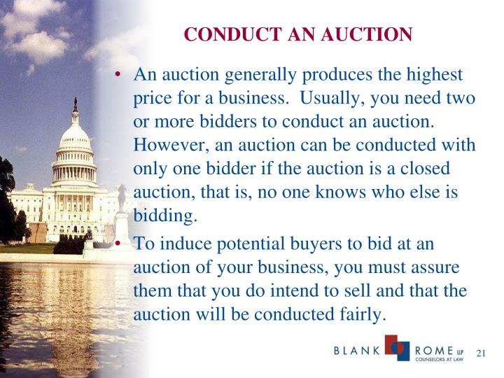 CONDUCT AN AUCTION