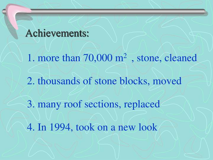 Achievements: