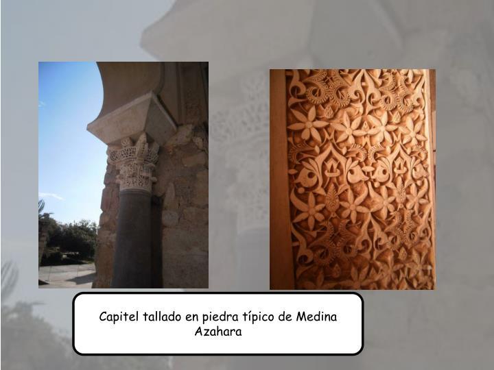 Capitel tallado en piedra tpico de Medina