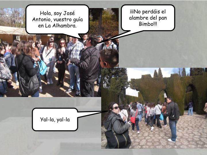 Hola, soy Jos Antonio, vuestro gua en La Alhambra.