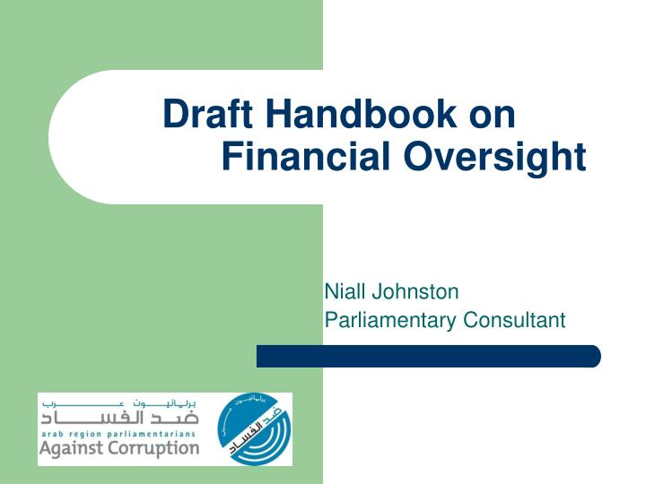 Draft handbook on financial oversight