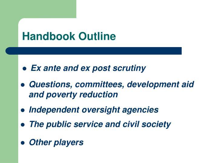 Handbook Outline